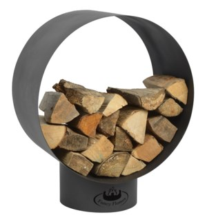 Round wood storage - 23.25x15.25x28.5 inches