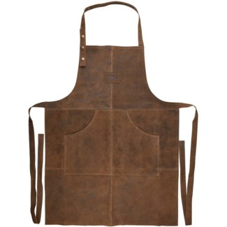 Bbq apron leather -  23.4x0.2x41.1in.