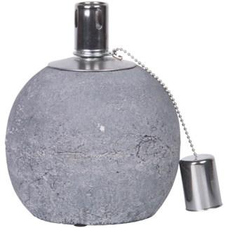 Oil lamp concrete S -  5.4x5.4x6.7in.