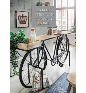 Euro Bicycle Console Table, Black,  83x20x35 inch