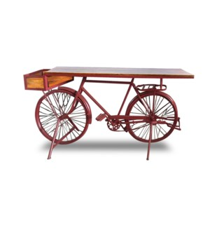 Euro Bicycle Table Red