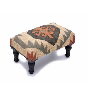 Kilim Rug Ftd Foot Stool