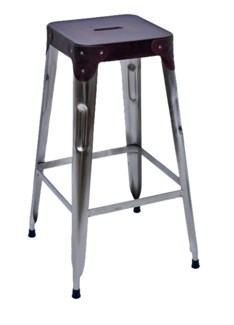 Stello Leather Top Stool, 11x11x30 Inches