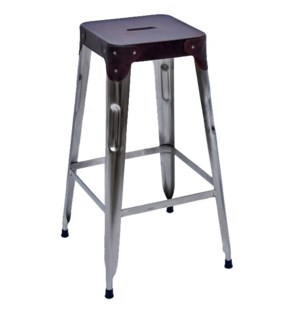 Stello Leather Top Barstool