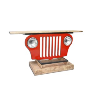 Iron Jeep Table RED