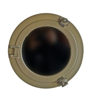 Porthole Mirror,11in, Antique Brass