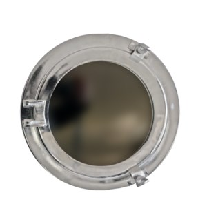 """Porthole Mirror, 8inches, Nickel"""