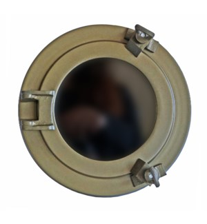 """Porthole Mirror, 8inches, Antique Brass"""