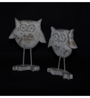 WD WHITE DISTRESSED OWL