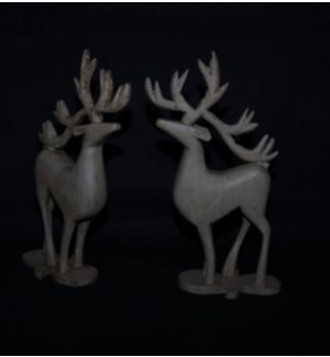 WD WHITE ANTIQUE DEER