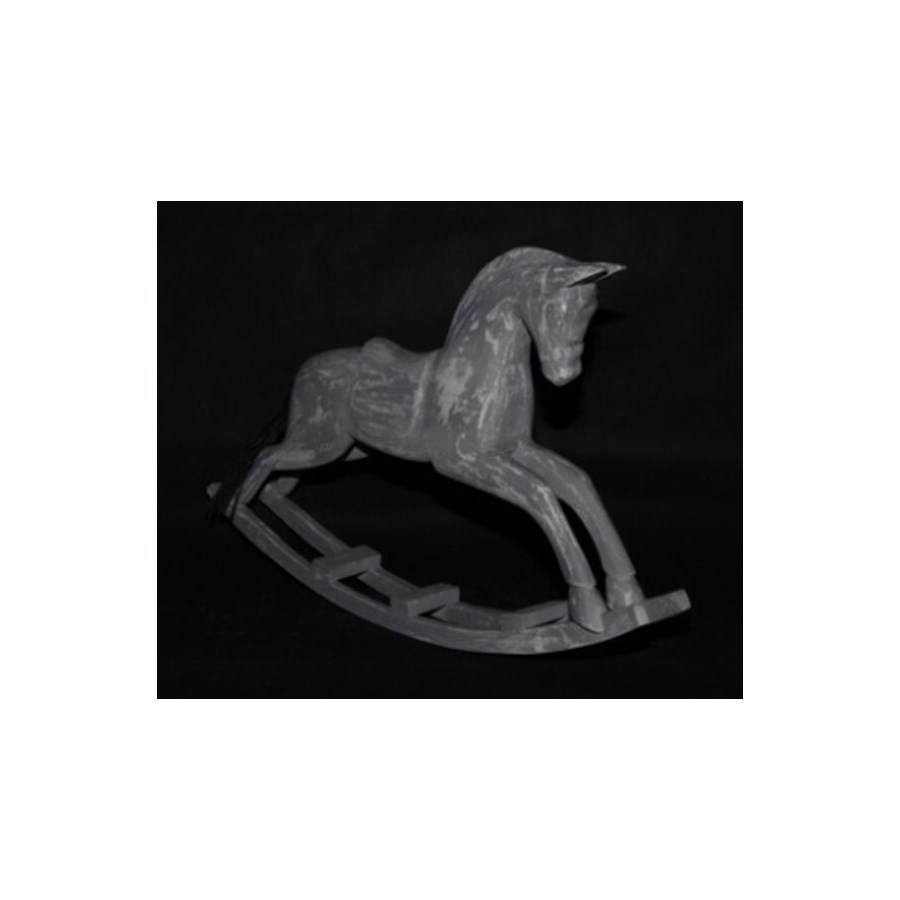 WD ROCKING HORSES IN GERY DISTRESSED