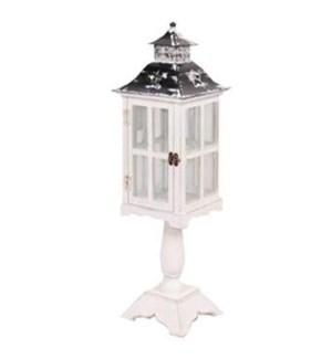 Square wooden lantern/pedistal