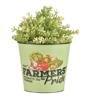 Farmers Pride flower pot. Zinc. 16,0x16,0x14,2cm. On sale 35 percent off original price
