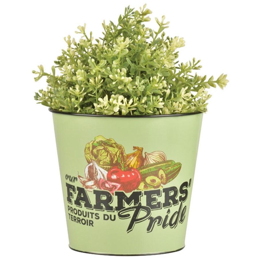 Farmers' Pride flower pot. OS
