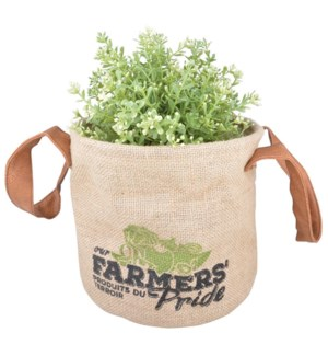 Farmers Pride grow bag S. Jute, PE, PU. 21,0x21,0x18,0cm. oq/12,mc/48 Pg.132