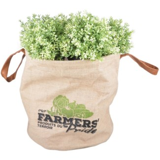 Farmers Pride grow bag L. Jute, PE, PU. 40,0x40,0x39,0cm.