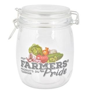 Farmers' Pride jam jar L