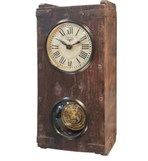 Brick Wood Pendulum Clock