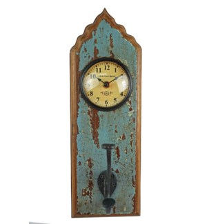 Recycled Wooden Clock 6x4x13 inches On sale 25% off