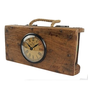 Recycled Brick Mould Clock wit