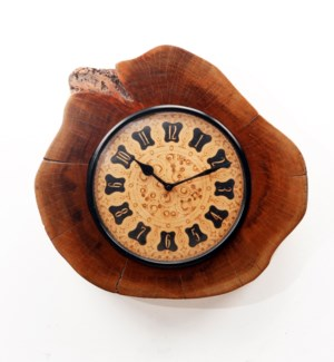 Recycled Wooden Log Clock 13x3x13 inches On sale 25% off