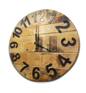 Large Old Wood Clock