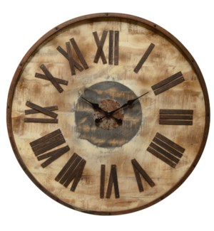Wooden distressed clock