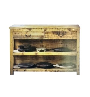 Wooden Console Table with 2 Drawers