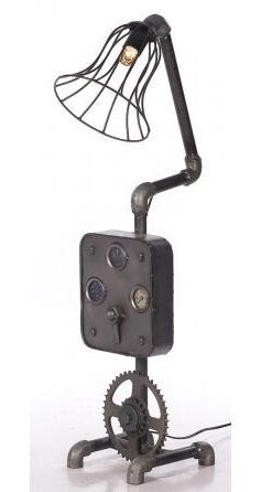 Upcycle Control Panel Lamp