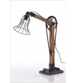 Upcycle Vintage Bicycle Chain Lamp
