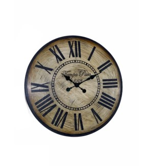 Wooden clock in Antique Finish