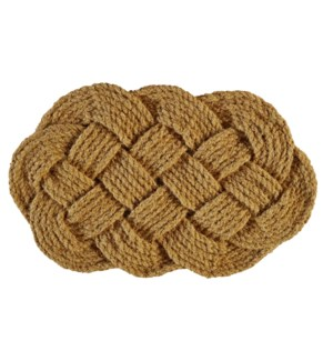 """""""COIR ROPE MAT OVAL, 18x30in"""""""