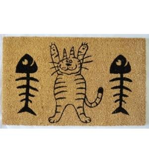 """""""Cat & Fish Mat, Natural"""""""