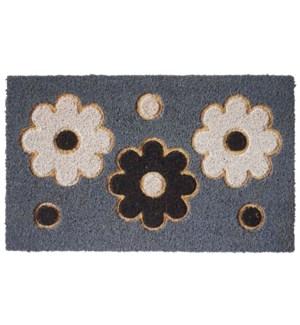 """""""Flower Doormat, 18x30in"""""""
