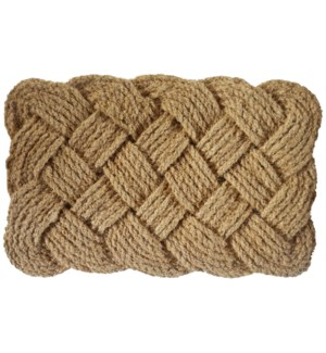 Coir Rope Mat, Natural, 17.7x29.5 inches, 3 cm thick