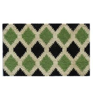 """Diamond Pattern Doormat, Green"""