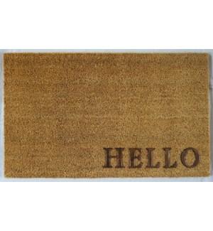 """""""HELLO Doormat, 16x24in, Natural"""""""