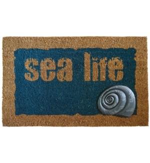 """""""SEA LIFE Doormat Blue/Nat,"""""""