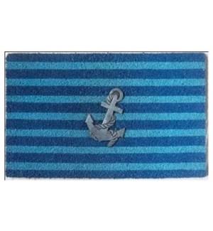 """Striped Anchor Doormat, OS"""