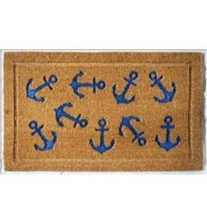 """Blue Anchor Doormat, OS"""
