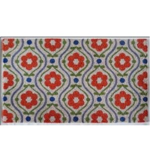 WELCOME Mat,  Red Floral , 1.5x2.5 ft, 17.7x29.5 inches, 1.5 cm thick On Sale 35 percent off