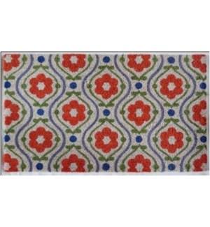 Red Floral Doormat