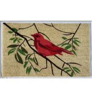 Red Bird Mat, 1.5x2.5 ft, 17.7x 29.5x 1 inches, 100% Coir, no backing On Sale 50 percent off