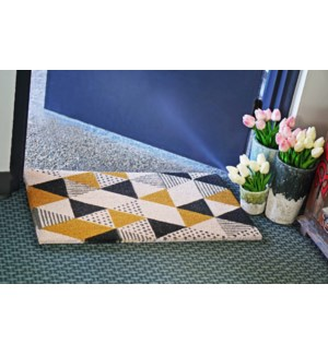 Geometric Printed Mat, 17.7x29.5 inches, 1.5 cm thick On Sale 35 percent off