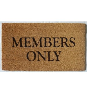 """MEMBERS ONLY Mat, Natural, OS"""
