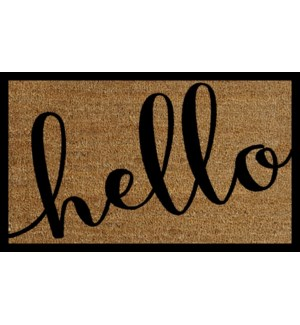 HELLO Mat, Natural, 17.7x29.5 inches, 1.5 cm thick