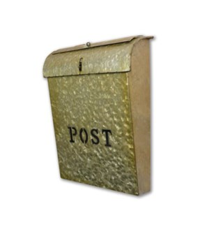 Emily POS Mailbox Rustic Gold