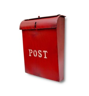 Emily POST Mailbox Rustic Red