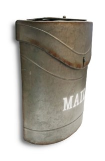 Kinley MAIL Mailbox Rustic Metal. Lid access. 11.4x4.52x13.9inch.