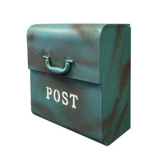CJ Mailbox, Rustic Blue, 12.6x6.9x14.2inch On sale 30 percent off